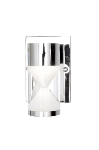 ET2 Lighting 22461 Tyme Wall Sconce, Polished Chrome Finish, 4.25 by 7-Inch (Sconce Zoo Wall)