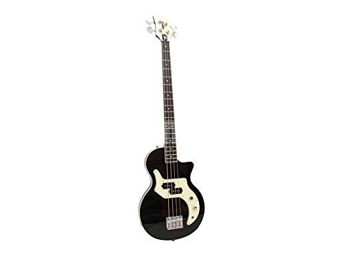 Orange O-Bass 4-String Electric Bass Guitar with Bag, Black