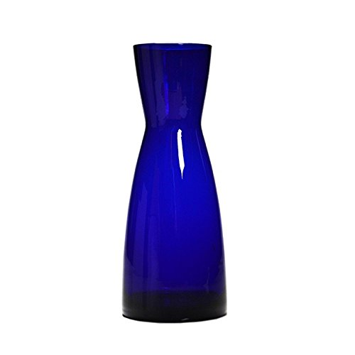 D&V Glass Cobalt Blue Nu Carafe 36.25oz (1 ltr) - Set of 12