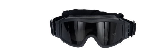 - Lancer Tactical AERO 3mm Thick Dual Pane Lens Eye Protection Safety Goggle System ANSI Z87 1 Rated Industry Standard Panel Ventilated w/Anti-Scratch Shield Fully Adjustable (Black / 3 Lens)