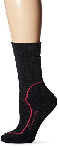 Icebreaker Women's Hike + Trek Crew Socks, Jet/Cherub/Black, Large