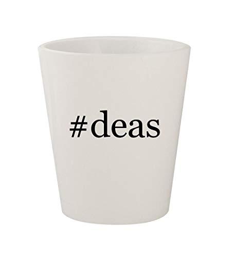 #deas - Ceramic White Hashtag 1.5oz Shot Glass
