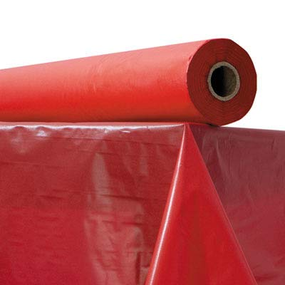 (ATL2TCR300 - Plastic Table Cover, 40quot; X 300 Ft Roll, Red)