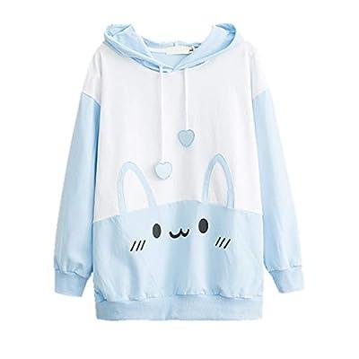 Bunny Hoodie Kawaii Print Loose Casual Pullover Hoodie Tops