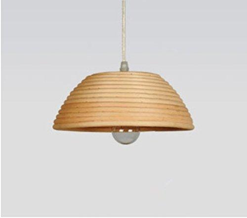 CNUAckl Hänge  Pendelleuchten Restaurant Kronleuchter Einfache Massivholz  Led Lampe Restaurant Bar Kran Single Head Persönlichkeit