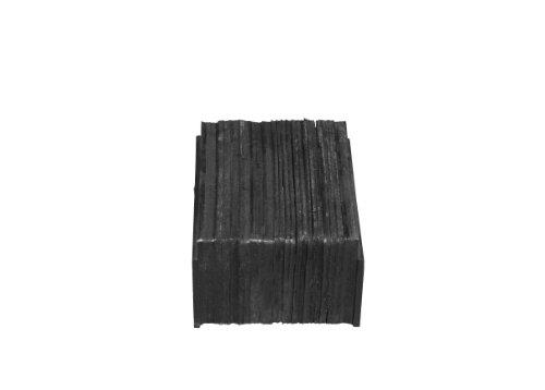 IRONguard-Rubber-Dock-Bumper-Rectangular-Laminated-Horizontal-Mount-Flat-Plate-Both-Sides-12-Length-12-Width-6-Depth