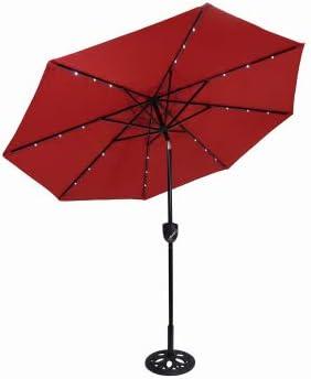 J J GLOBAL LLC Bluetooth Speaker Solar Umbrella