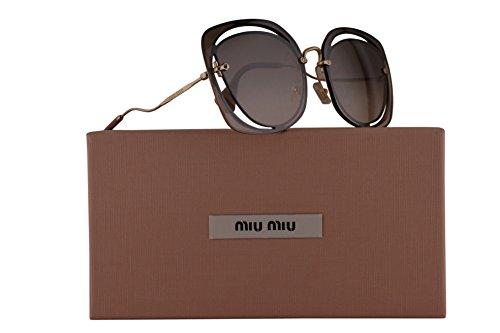 Miu Miu MU54SS Sunglasses Brown w/Brown Gradient Mirror Lens DHOAD5 SMU 54S SMU54S MU - 52rs Miu Miu