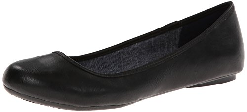 Dr. Scholl's Women's Friendly Ballet Flat Friendly,BLKSMOOTH,8.5M US