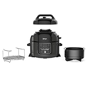 Ninja Foodi 9-in-1 Pressure, Broil, Slow Cooker, Air Fryer, and More, with 6.5 Quart Capacity and 45 Recipe Book, and a…