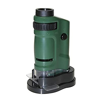 Carson MicroBrite 20x-40x LED Lighted Pocket Microscope for Learning, Education and Exploring (MM-24, MM-24MU): Camera & Photo