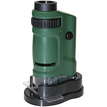 LED Lighted Pocket Microscope 60X Power for Exploring Learning and Education