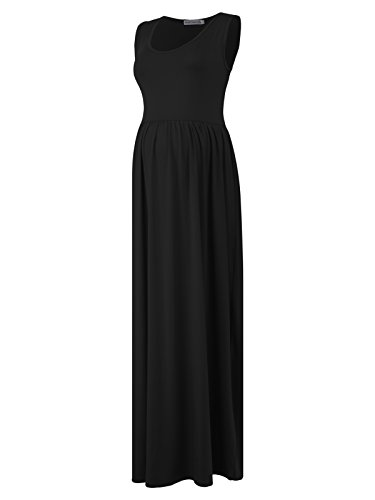 Sleeveless Pleated Maternity Dress - 7