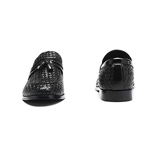 Fumatori Mocassino Casuale da Uomo su Moda Pantofola Pelle Nappa Nero Scarpe NXY Guida Scivolare q417UcyyWw