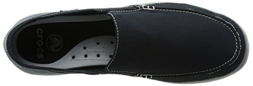 Crocs Men's Walu Accent Loafer Black/Charcoal sFqUMupC49