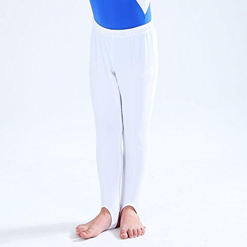 Blanc Homme De Garçon Tenue Long Pantalon Pour Gymnastique Extensible Newdance Et Ballet Étrier Legging tvqO0wU5