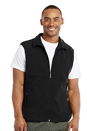 Knocker Men's Polar Fleece Zip Up Vest (S, Black)