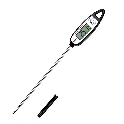 TBBSC Digital Food Cooking Thermometer - Best Instant Read Meat Candy Thermometer with LCD Screen, Anti-Corrosion, Best for Kitchen, Grill, BBQ, Milk, and Bath Water, Long Probe - Auto Shutdown
