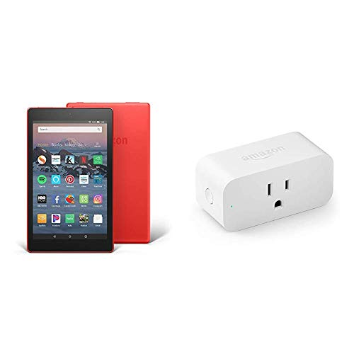 Fire HD 8 Tablet (8' HD Display, 32 GB, Red) with Amazon Smart Plug