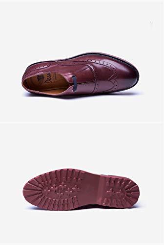 uomo pelle Scarpe casual 41 Brown in uomo Scarpe Brown scarpe Size Color EU oxford scarpe per in leggere Ruanyi brock pelle comode qZgYtg