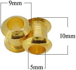 SHAREKI エポキシ樹脂粘土 レジン 手作り ハンドメイド 素材 パーツ チャーム芯 ロンデル 5個入り ゴールド b-04