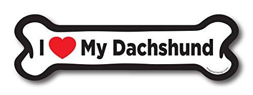 - Magnet Me Up I Love My Dachshund Dog Bone Car Magnet - 2x7 Dog Bone Auto Truck Decal Magnet