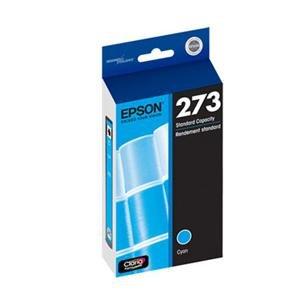 Genuine OEM Epson 273 (T273220) Cyan Ink Cartridge - 300 Yield