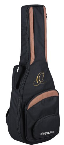 Ortega Guitars ONB34 Deluxe Professional Gig Bag with Thick Padded Inside for 3/4 Scale Guitars ()