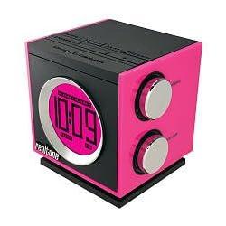 Realtone Retro Electronic Dual Alarm AM/FM Clock Radio with MP3 Line-In