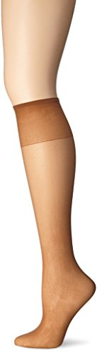 Just My Size Women's Knee High Panty Hose, Suntan, One Size (Just My Size Pantyhose Sheer Toe)
