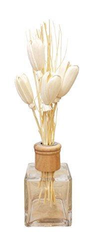 Omin Rattan Reed Diffuser Sticks Replacement with Cream Tulip Flowers Style Natural Shape 10