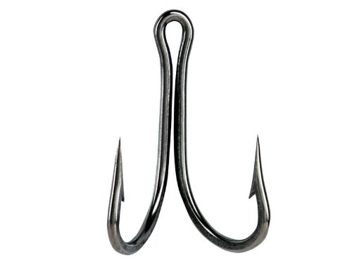 Double O'Shaughnessy Hook, Size 5/0, Forged, 2X Strong, Ringed Eye, Dublin Point, Stainless Steel, 10 per Pack