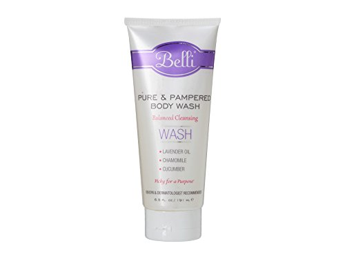 Belli Pure and Pampered Body Wash - Balanced Cleansing with Essential Oil of Lavender - OB/GYN and Dermatologist Recommended - 6.5 oz
