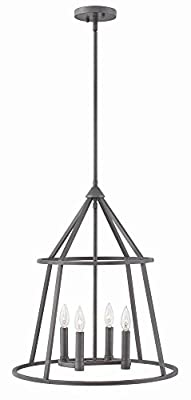 Hinkley 3773GZ Transitional Four Light Pendant from Middleton collection in Bronze/Darkfinish,