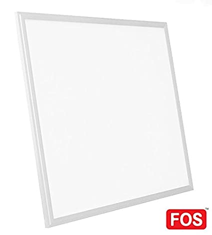 sale retailer 11777 9df70 FOS LED 40-Watt 2x2 Ceiling Panel Light 4400 LUMENS (Slim, Square, Cool  White 6500k)