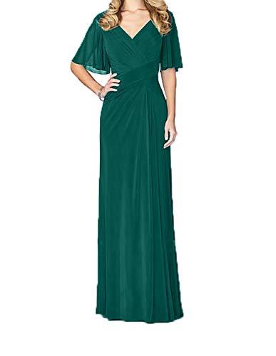 Jungendweihe Jaeger Charmant Kleider Ausschnitt Damen V Gruen Abendkleider Festlichkleider Brautmutterkleider Elegant Lang BBavw0