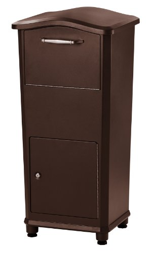 (Architectural Mailboxes 6900RZ Elephantrunk Parcel Drop Box, Extra Large, Rubbed Bronze)