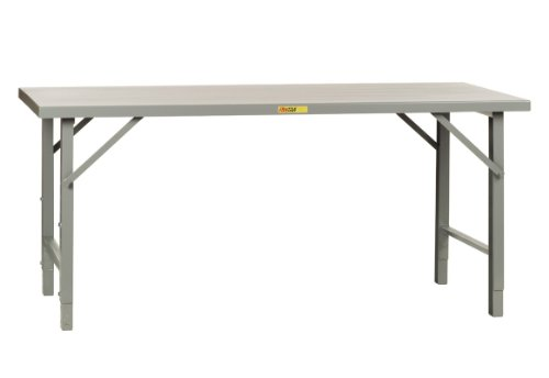 Little Giant WF-3672-AH Steel Folding Leg Welded Workbench with Steel Top, 3000 lbs Capacity, 72