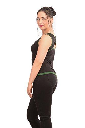 3elfen del Mujer verde Camisa ala abeto nnT5wgPx4