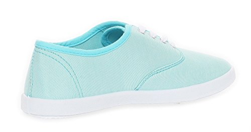 Damen Sneaker Schuhe Sommerschuhe in 3 Farben Gr. 36 bis 41 Light Blue