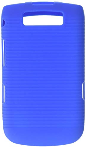 MyBat Rubberized Hybrid Holster with Belt Clip for BlackBerry 9800 Torch - Retail Packaging - Blue