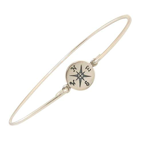 Graduation Themes For High School (Compass Bracelet Travel Theme Jewelry Graduation Gift for High School or College Avg Size)