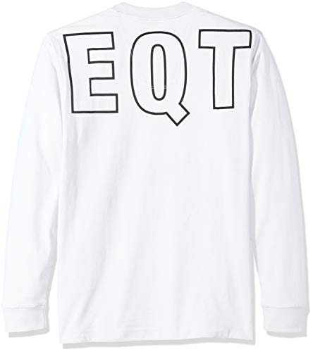 White Tee Graphic Adidas Originals Men's Eqt Sleeve 2xl Long 7Rqaw6x