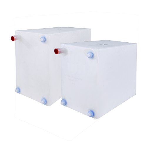 RecPro Fresh and Gray Water Holding Tank | Combo Pack | Concession Water Holding Tanks | RV Water Holding Tanks | Trailer Water Holding Tanks (10 Gallon & 16 (10 Gallon Lighting)
