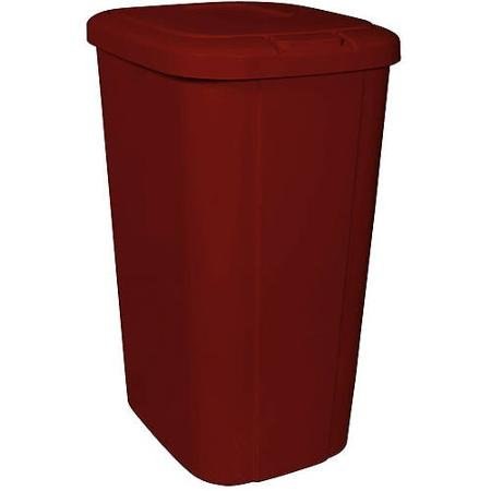 Blossomz Hefty Touch Lid 13 3 Gallon Trash Can Red