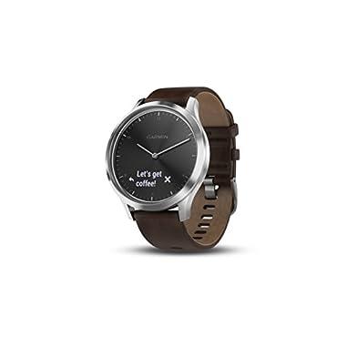 Garmin vívomove HR Premium Hybrid Smartwatch Black/Silver, L