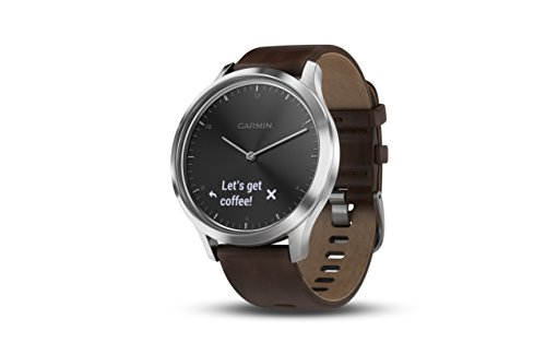 Garmin vívomove HR Premium Hybrid Smartwatch - Black/Silver, L by Garmin
