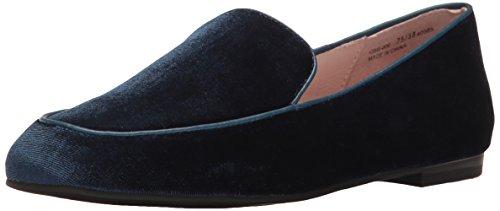 Chinese Laundry WoMen Gabby Slip-on Loafer, Black Blue Velvet