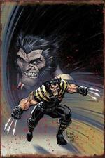 (Metal Tin Sign Wolverine Comic Style Decor Bar Pub Home Vintage Retro)