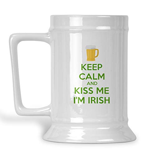 Kiss Me I'm Irish Beer Stein (Personalized) - Im Irish Stein